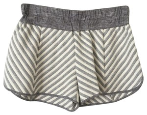 10 Crosby Derek Lam Dress Shorts Grey and cream