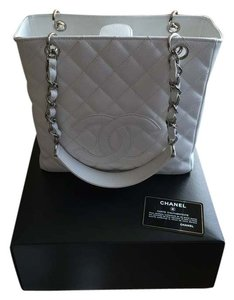 Chanel Tote in White and Silver