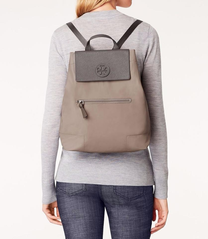 3a8e5290dc5b Tory Burch Ella Packable French Grey Backpack - Tradesy