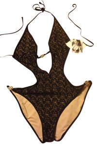 Victoria's Secret Victoria's Secret One Piece Swimsuit Black And Gold Size Small