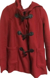 Nordstrom Wool Winter Red Jacket