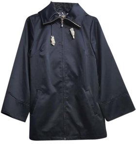 Dennis Basso Hooded Trench Coat