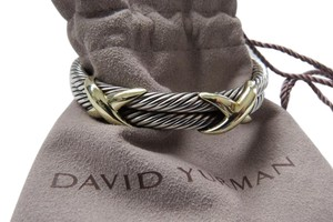 David Yurman X Collection SS/14k Double Cable Cuff