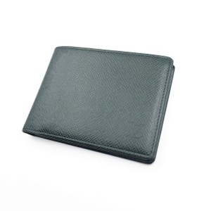 Louis Vuitton Green Taiga Leather Wallet - S