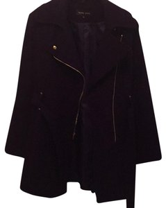 Black Rivet Trench Coat