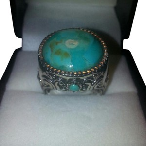 Jared STUNNING 10 Carat Larimar & Sterling Ring Sz 7