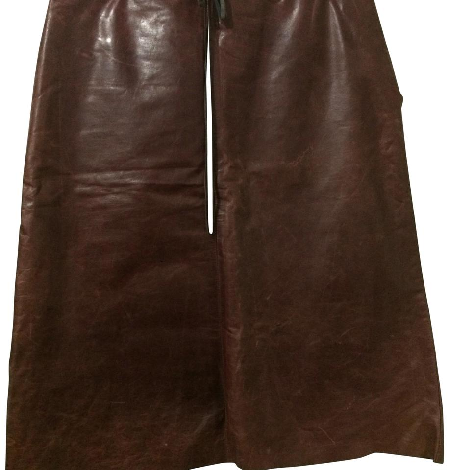 fb2b38f8f8f0 Banana Republic Burgundy Vintage Leather Skirt Size 2 (XS, 26) - Tradesy