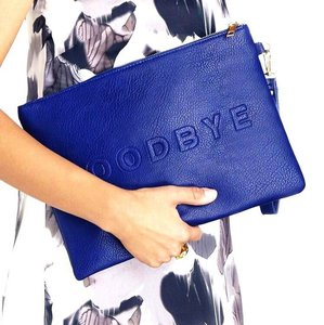 Sole Society Pouch Cobalt Clutch