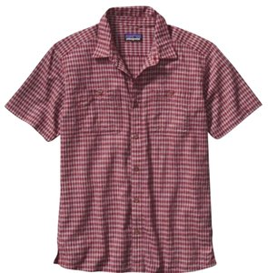 Patagonia Button Down Shirt Berdoo: Drumfire Red
