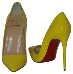 Christian Louboutin Brand New In Box YELLOW Pumps