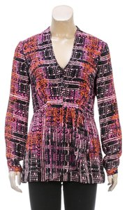 Nanette Lepore Top Pink/Orange/Multicolor