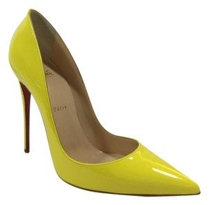 Christian Louboutin Patent Leather Yellow So Kate Sun Pumps