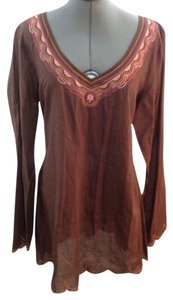 Lucky Brand Brown Chocolate Cotton Tunic