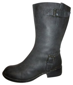 Cole Haan Leather Riding Moto black Boots