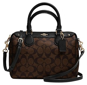 Coach F36689 Bennett Crossbody 36624 Satchel in Brown Black gold