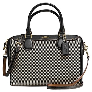 Coach F36689 Bennett Satchel in Black Milk gold