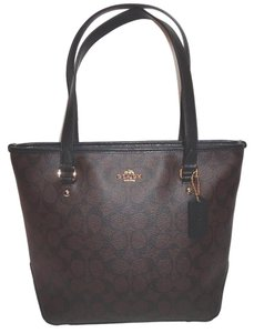 Coach Tote in Black / Brown