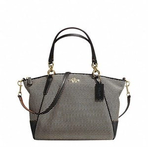 Coach F52744 Satchel in gold/milk/black
