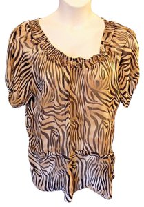 Goddess Plus Size Casual Animal Print Semi-sheer Tunic