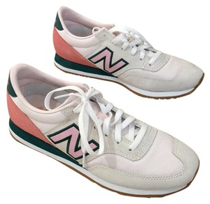 New Balance White, pink, and green Athletic