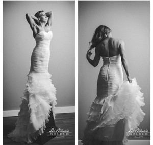 Chiffon Ruffle Mermaid/trumpet Wedding Gown Wedding Dress