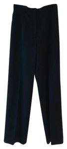Max Mara Straight Wide Leg Pants Black