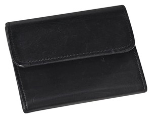 Coach Vintage Coach Black Leather Coin/Credit/Bill Wallet