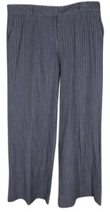 Hei Hei Anthropologie Pinstriped Menswear Wide Leg Trouser Pants gray
