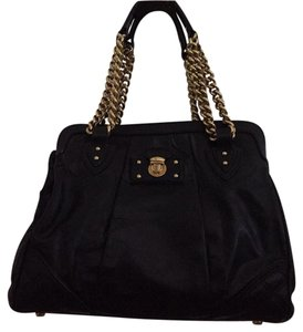 Marc Jacobs Chain Quilted Studded Tote Satchel in black