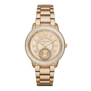 Michael Kors WOMEN'S MK6287 MADELYN GOLD STRAP GLITZ DIAL WATCH