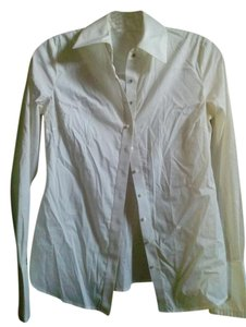 Elie Tahari Button Down Shirt white