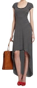 Navy stripe Maxi Dress by BCBGMAXAZRIA