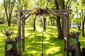 Decorations From Vibrant Backyard Wedding