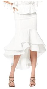 Gracia Small Ruffle Skirt White