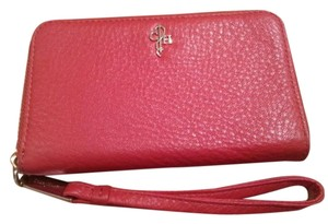 Cole Haan Cell Phone Leather Leather Wristlet in Red