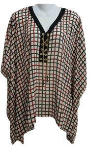 Michael Kors Batwing Dolman New With Tags Checkered Top Chili