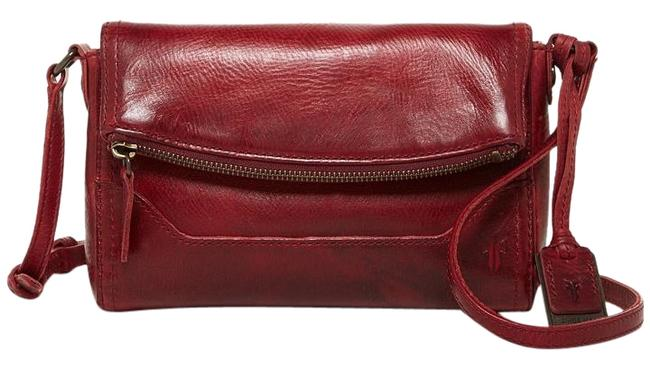 Item - New Melissa Fold-over Db129 Burgundy Red Distressed Leather Cross Body Bag