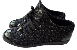 Chanel Tweed Patent Leather black Athletic