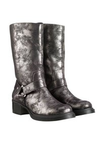 Simply Vera Vera Wang Midcalf Harness Buckle silver black metallic Boots