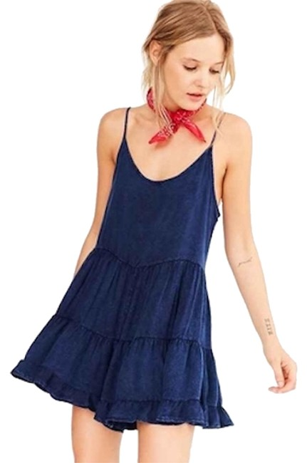 8ec9332637eb Urban Outfitters Ecote Tiered Swing Acid Wash Romper Jumpsuit free shipping