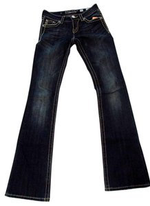 Miss Me Vintage Jeweled Denim Boot Cut Jeans-Dark Rinse