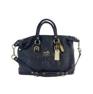 Coach Small Black Leather Satchel