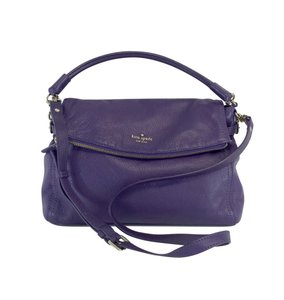 Kate Spade Purple Pebbled Leather Shoulder Bag