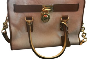 MICHAEL Michael Kors Satchel in Two-Tone(camel and Creme)