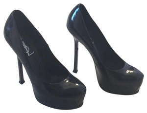 Saint Laurent Navy patent leather Pumps