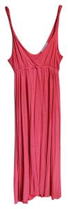 Pink Maxi Dress by Gap Polka Dot Magenta Southern
