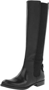 Franco Sarto Leather Stretch New Cute Black Boots