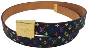 Louis Vuitton Black Multicolore LV Monogram Louis Vuitton waist belt S Small