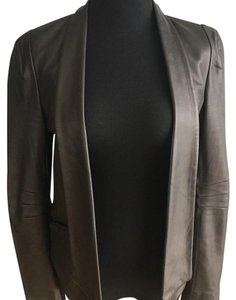 Rebecca Minkoff Leather Jacket Black Blazer