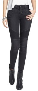Free People Moto Skinny Jeans-Light Wash